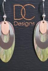 Illustrated Light Long Oval Giclee Earrings