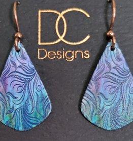 Illustrated Light Single Teardrop Giclee Earrings
