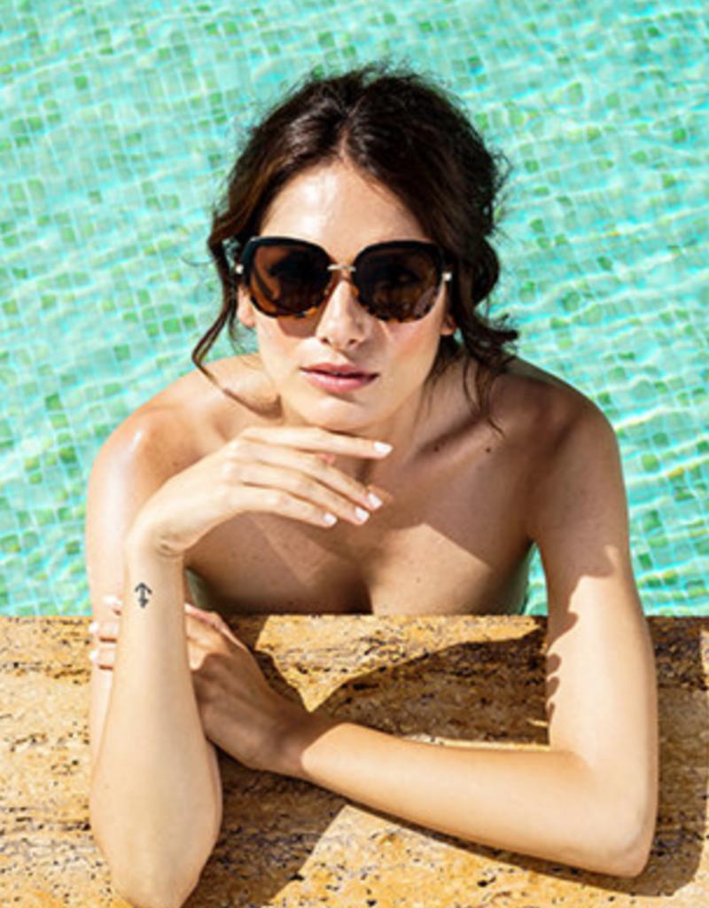 Powder Aubrey Tortoise Sunglasses