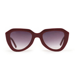 Powder Gianna Burgundy Sunglasses