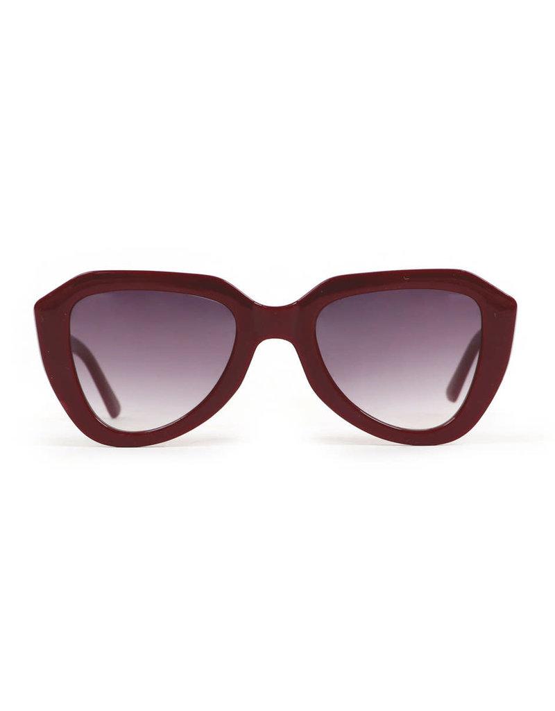 Powder Gianna Burgundy Sunglasses