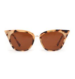 Powder Sophia Cream & Tortoise Sunglasses
