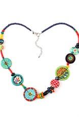 Treska Allegra Long Bead and Disc Station Necklace
