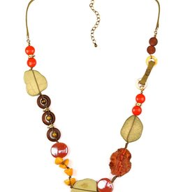 Treska BALI HAI Long Knotted Cord Bead Necklace