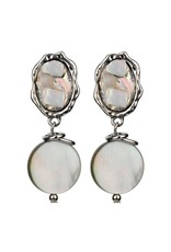 Treska Calypso Shell Mosaic Top with Drop Earrings