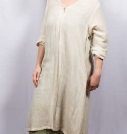 Dolma One Button Linen Duster O/S Natural