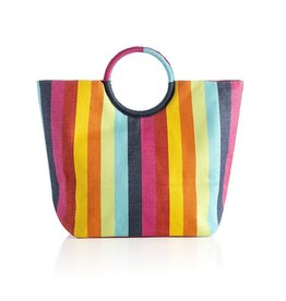 Shiraleah Chicago Rainbow Tote