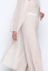 Beige Knit Jumpsuit w/ Sequined Waist