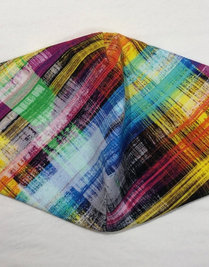 Andria Lieu Multi-color Plaid Face Mask - 3 Ply Fabric w/Filter