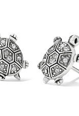 Brighton Fortune Turtles Mini Post Earrings Silver