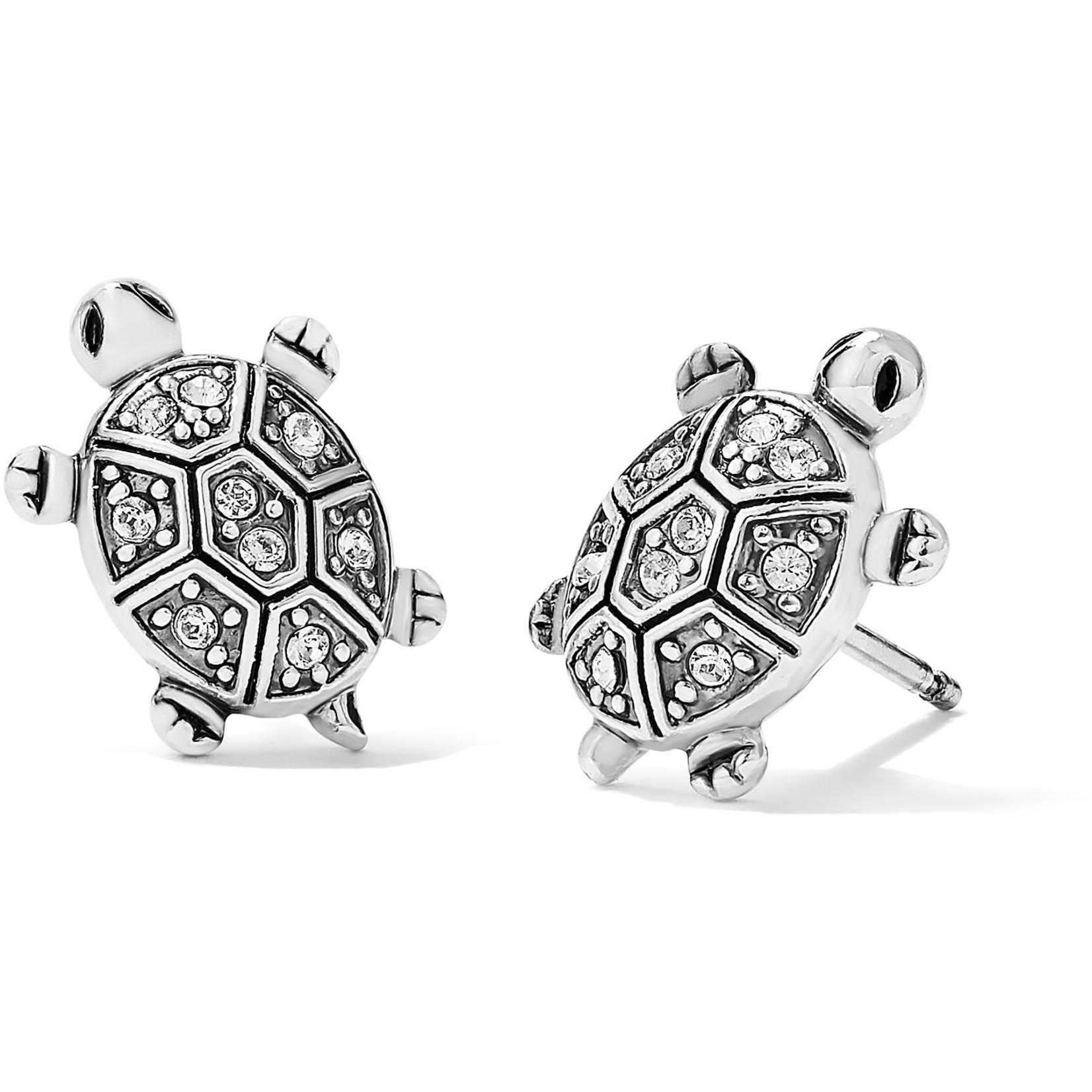 Brighton Fortune Turtles Mini Post Earrings Silver