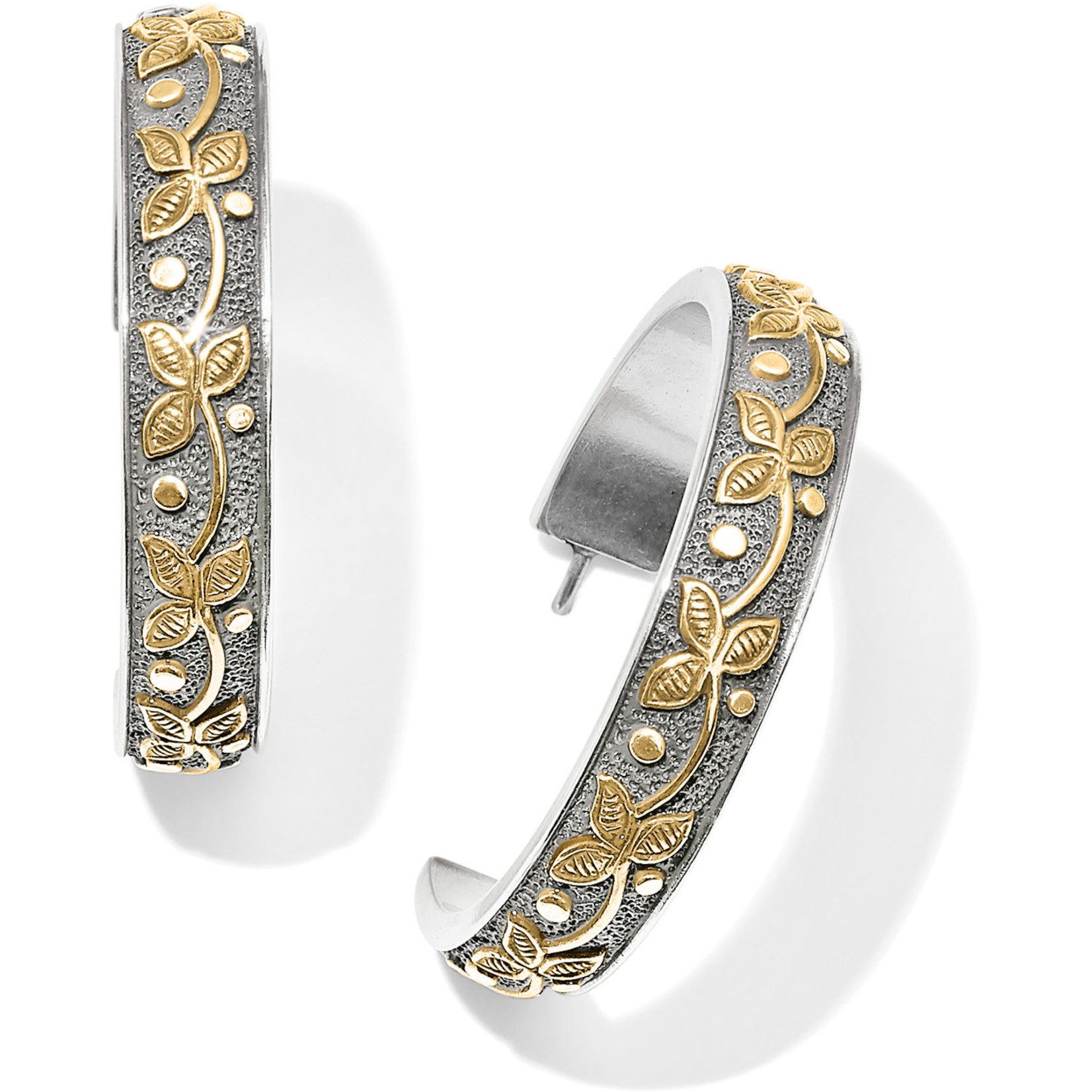 Brighton Udaipur Palace Hoop Earrings in Silver/Gold