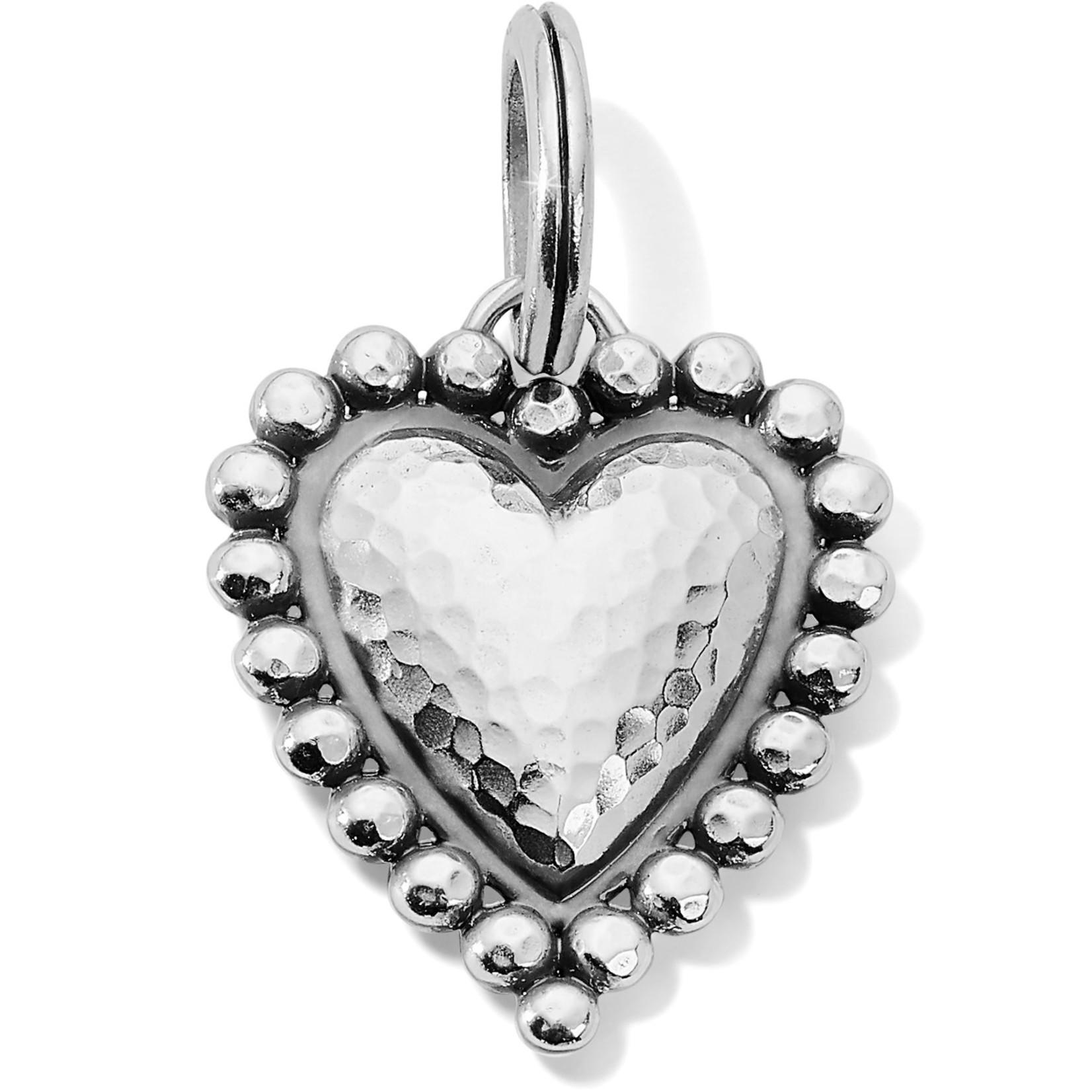 Brighton Valencia Heart Amulet Silver OS