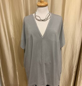 Bryn Walker Baxter Knit Interlock V-Neck Tunic