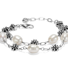 Brighton Rajasthan Jasmin Bracelet Silver-Pearl