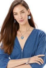 Brighton Journey To India Indigo Short Necklace Silver-Blue