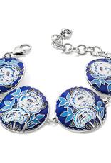 Brighton Journey To India Indigo Soft Bracelet Silver-Blue
