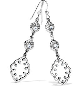Brighton Journey To India Lotus Drop French Wire Earrings Silver