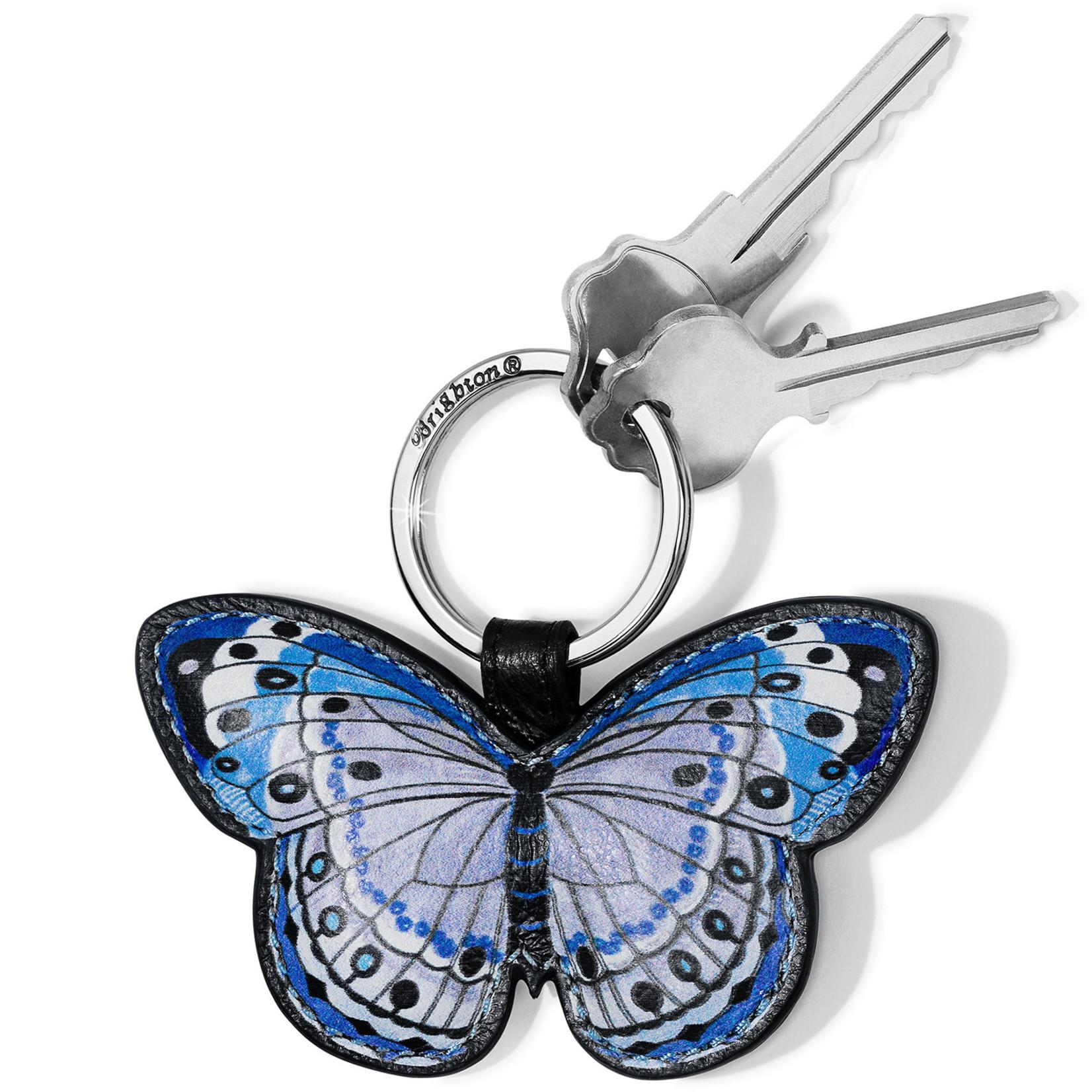 Brighton Solstice Bloom Butterfly Key Fob Blues