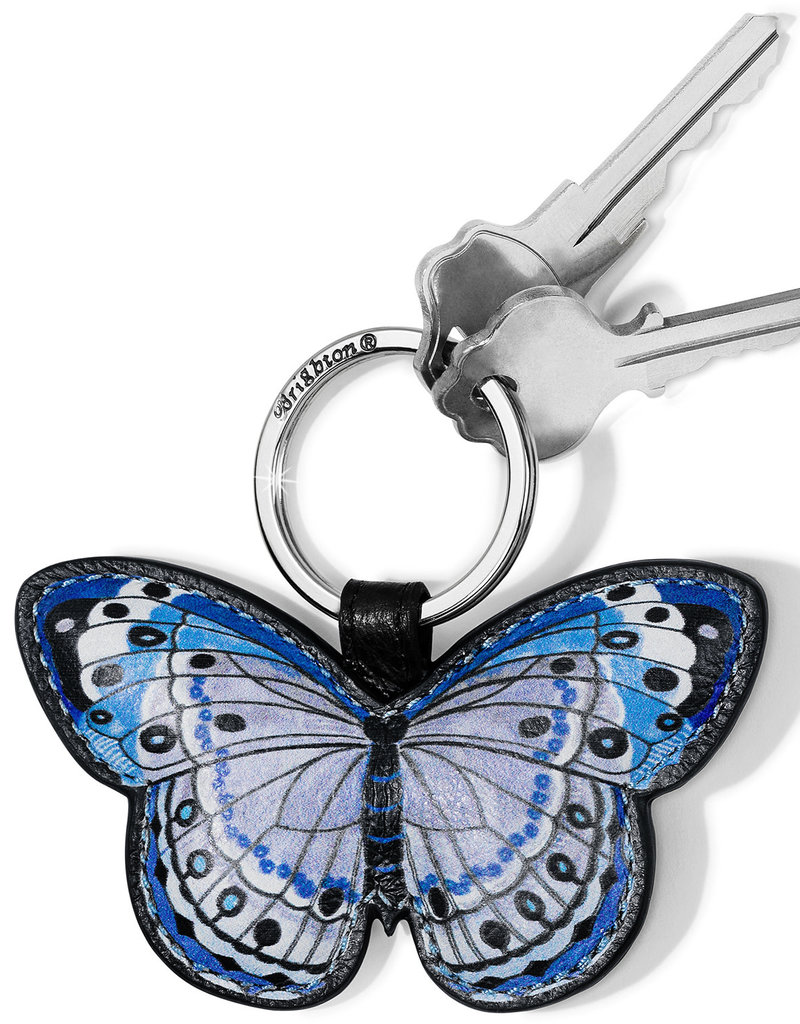 Brighton Solstice Bloom Butterfly Key Fob Blues
