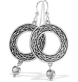 Brighton Interlok Weave French Wire Earrings Silver