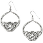 Brighton Interlok Unity French Wire Earrings Silver
