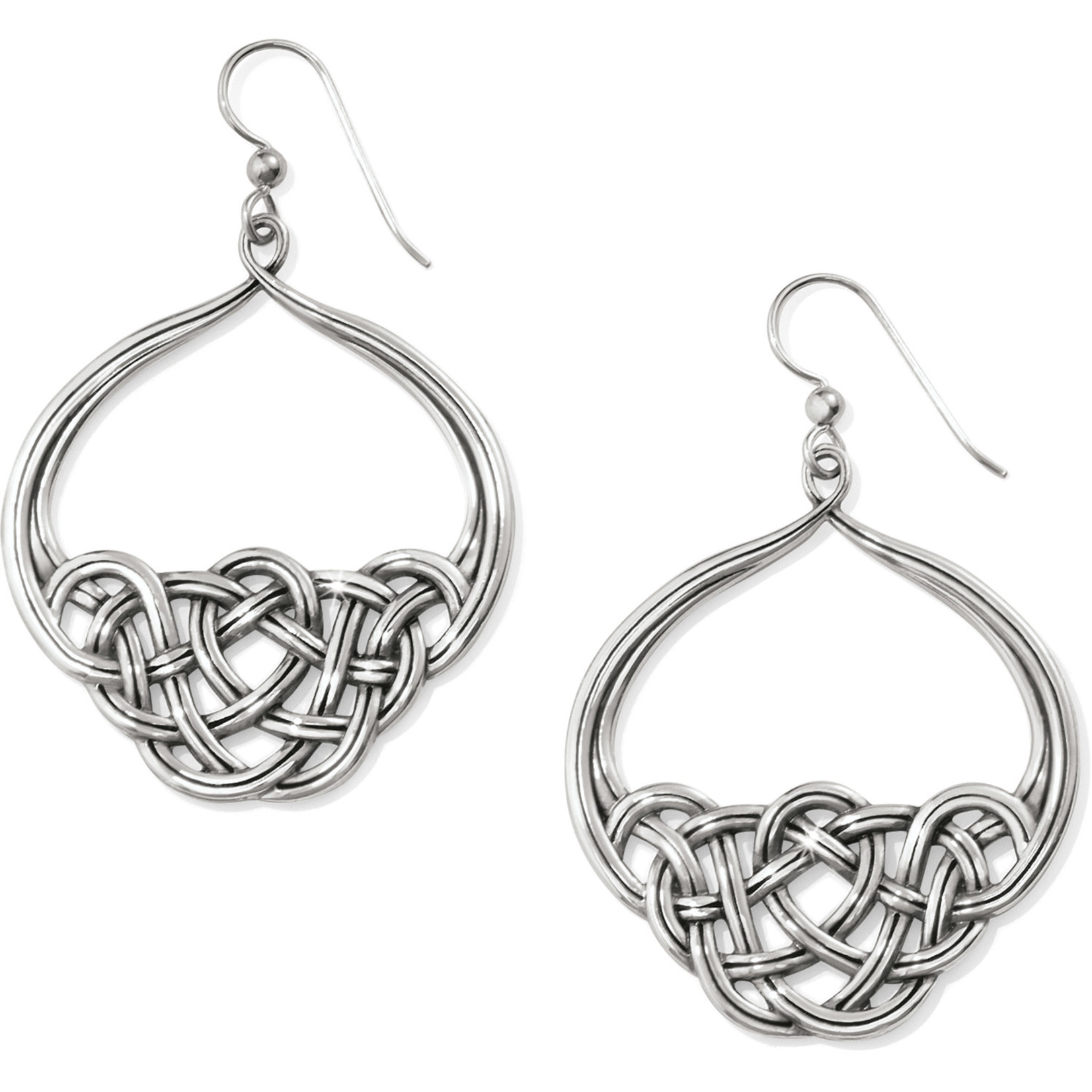 Brighton Interlok Unity French Wire Earrings Silver