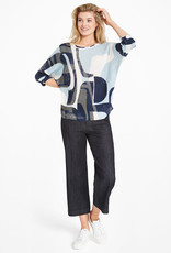 Nic+Zoe Shape of Blue Sweater