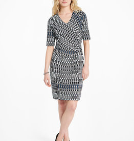Nic+Zoe Batik Stripe Twist Dress