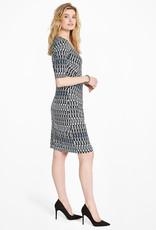 Nic+Zoe Batik Stripe Twist Dress