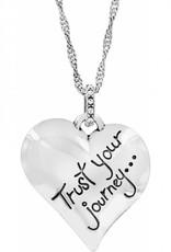 Brighton Trust Your Journey Heart Necklace Silver-Pastel Multi