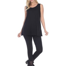 Reina Lee Long Black Tank