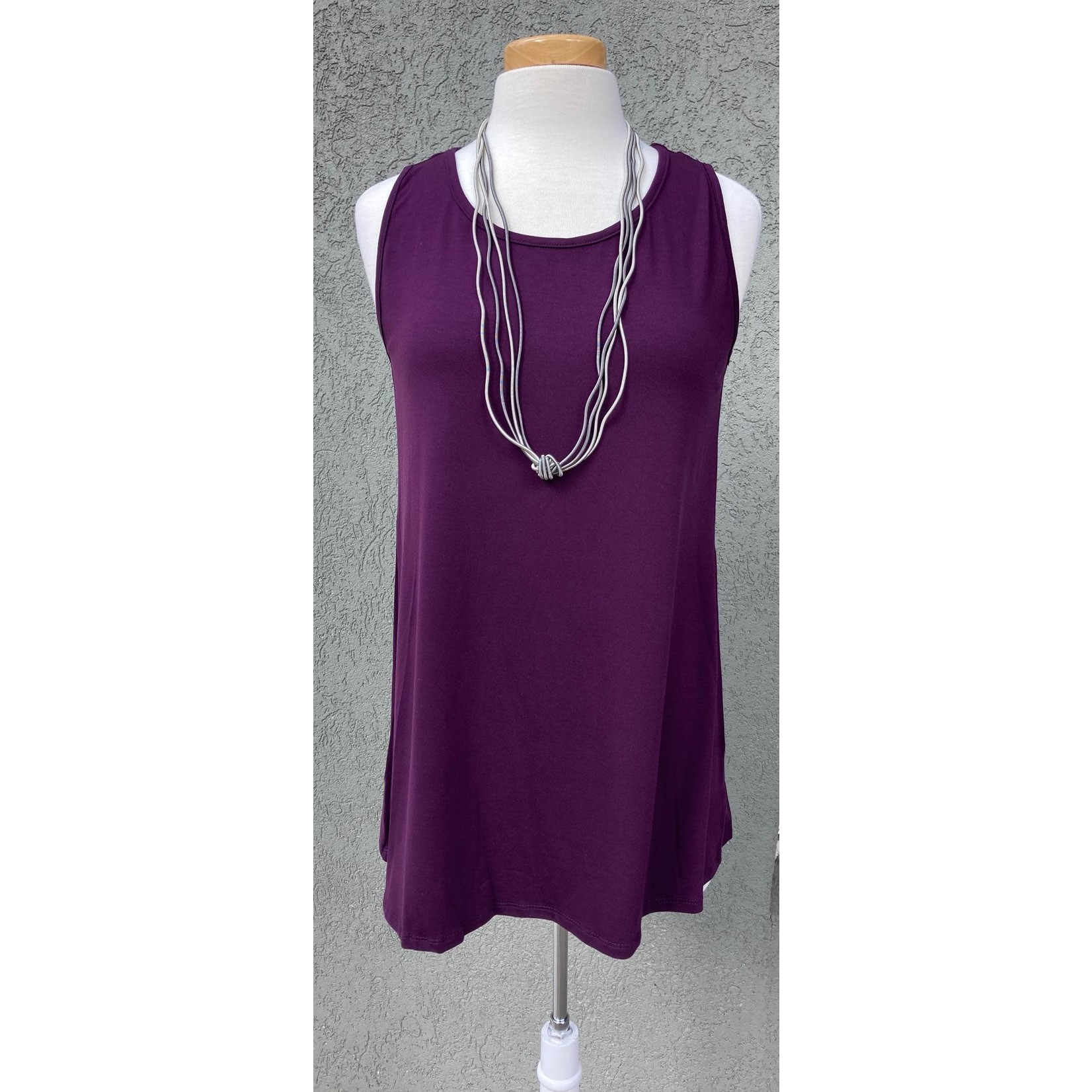 Reina Lee Long Relaxed Mulberry Tank