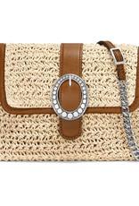 Brighton Mae Straw Flap Bag Natural-Luggage