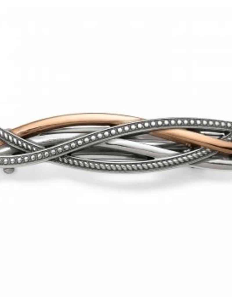 Brighton Neptune's Rings Small Barrette; Size : Silver-Gold