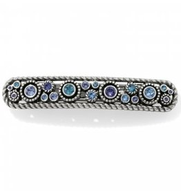 Brighton Halo Barrette Silver-Tanzanite