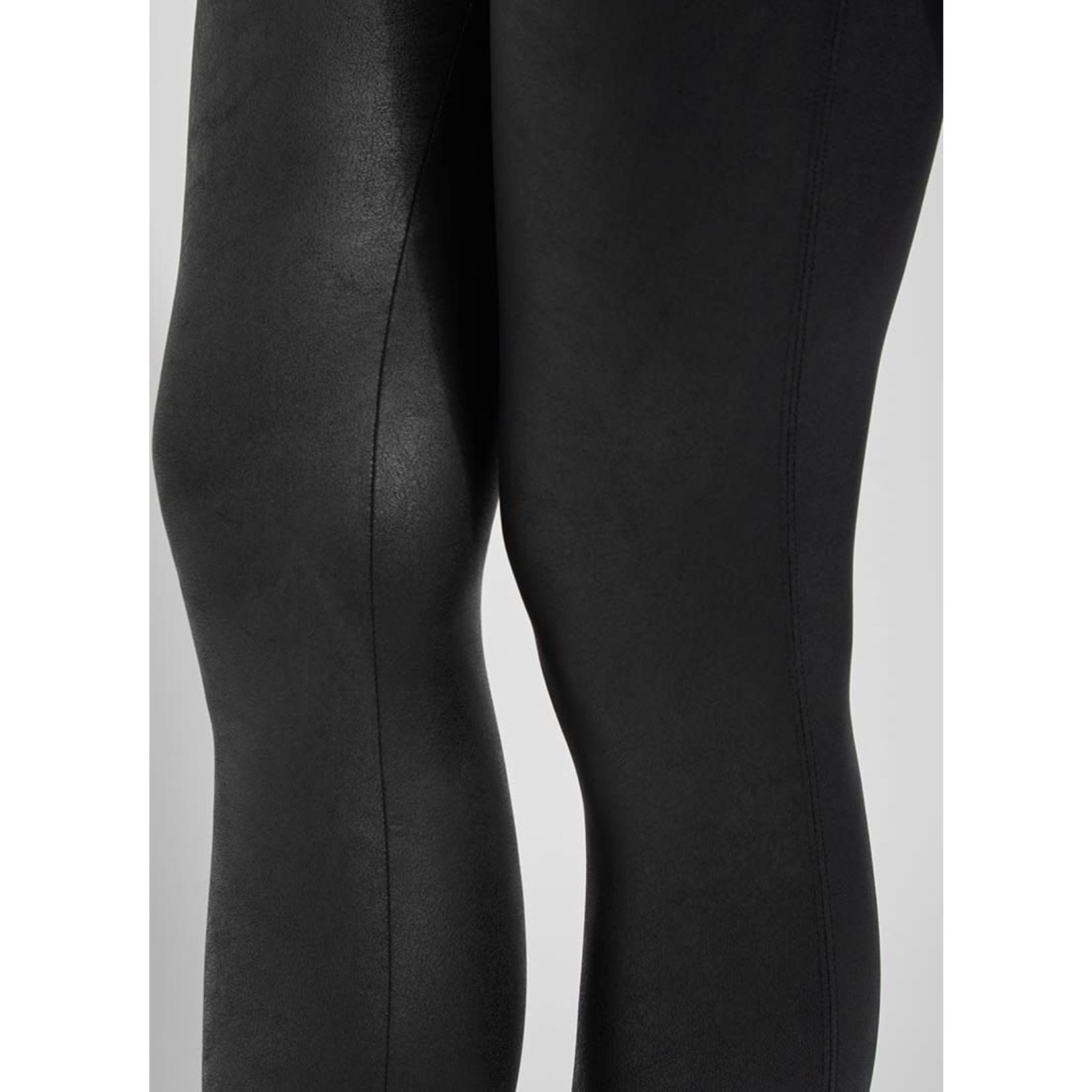 Black Foiled Vegan Leather Legging
