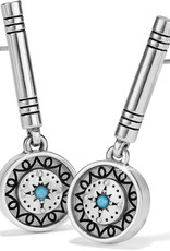 Brighton Marrakesh Mystique Post Drop Earrings Silver-Turquoise