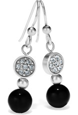 Brighton Meridian Petite Prime French Wire Earrings Silver-Black