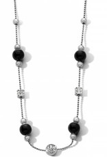 Brighton Meridian Prime Station Short Necklace Silver-Black
