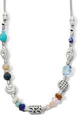 Brighton Barbados Beach Short Necklace Silver-Blue
