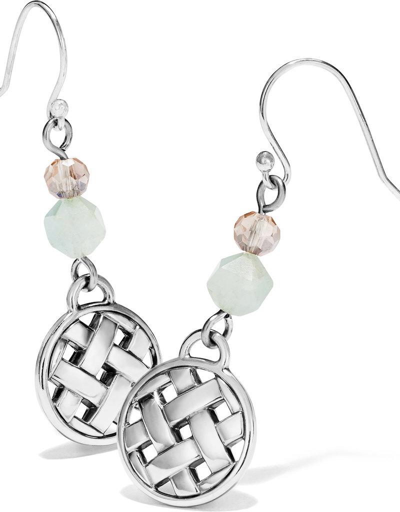 Brighton Barbados Beach French Wire Earrings Silver-Blue