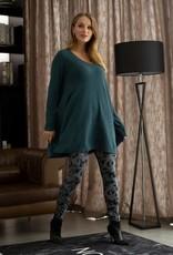 Spruce Cashmere-Feel V-Neck Oversize Knit Tunic w/ Swing Bottom