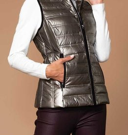Bronze Nylon Puffy Vest
