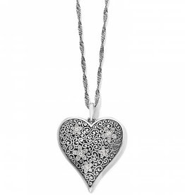 Brighton Baroness Fiori Heart Convertible Necklace Silver