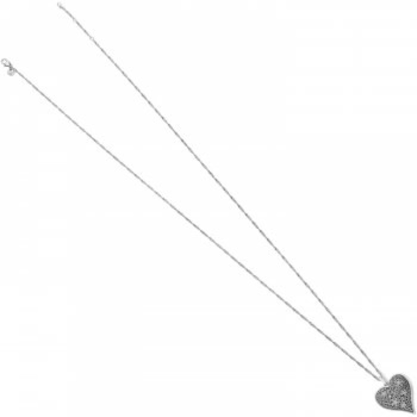 Brighton Baroness Fiori Heart Convertible Necklace Silver