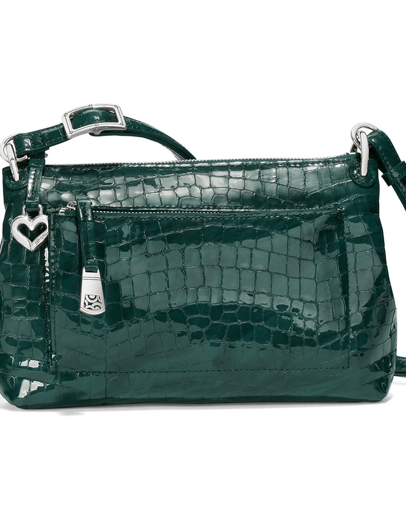 Brighton Bria Messenger in Jewel Patent Croco
