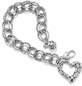 Brighton Pebble Heart Bracelet Silver