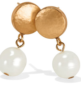 Brighton Mediterranean Pearl Post Drop Earrings Cream
