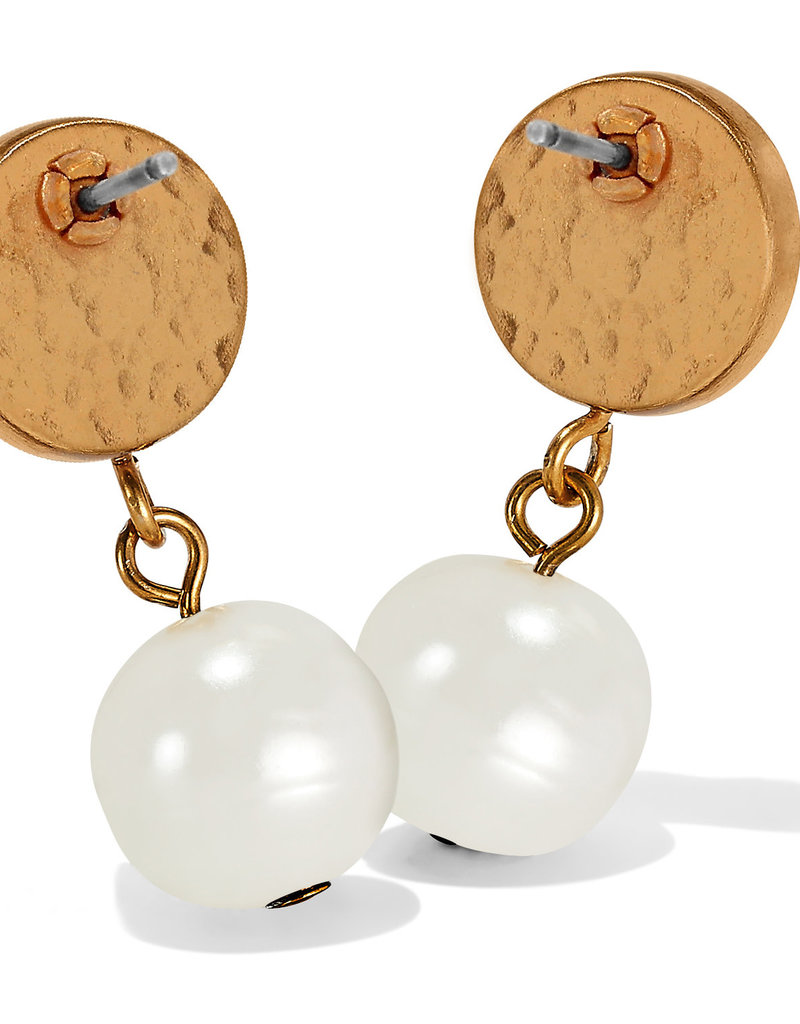 Brighton Mediterranean Pearl Post Drop Earrings Cream